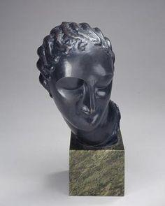 Head of a Woman / c. 1907-1908 / Elie Nadelman / Bronze