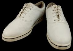 Foot Joy Cape Cod Collection White Leather Tennis Shoes Sneakers Womens 8.5 M #FootJoy #Tennis