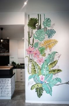 50 Unique DIY Wall Art Ideas For Your House To Try. Photo canvas art on walls has proven so popular because of the quality of the image reproduction and this, in turn, is partially due to the high qua. Wall Painting Decor, Mural Wall Art, Diy Wall Art, Diy Wall Decor, Room Decor, Decorative Wall Paintings, Painted Wall Murals, Wall Painting Flowers, Leaf Wall Art