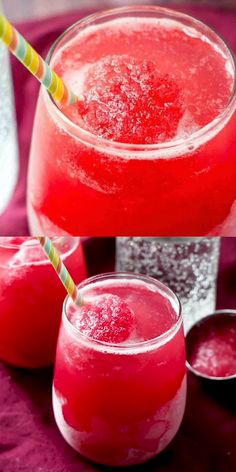 A refreshing summertime treat this Rhubarb Slush is an oldie but goodie that is seriously addicting and full of massive flavor! Rhubarb Slush Recipe, Slushie Recipe, Rhubarb Recipes, Alcoholic Slush, Non Alcoholic Drinks, Cocktails, Summer Drink Recipes, Summer Drinks, Desserts