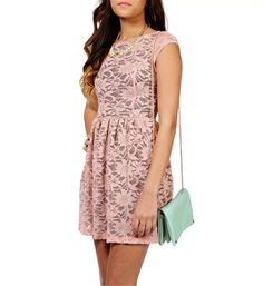 Rose pink lace baby doll dress @WindsorStore