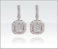 Gorgeous statement! 3/8ct. T.W. Diamond Earrings14Kt.  White Gold.  $346