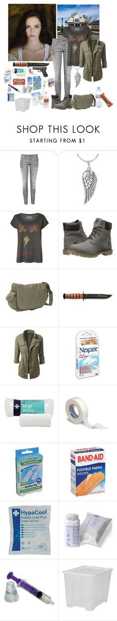 """""""walking dead original character possability- Kaya Scodelario"""" by firewitch23 ❤ liked on Polyvore featuring R13, Tressa, Timberland, Everest, Booth's, Evian, 3M, Fortuna and CO"""
