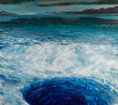 Olivier Masmonteil, Perito Moreno, Acrylic and oil on canvas, 227 x 251 cm, Courtesy Galerie Dukan Oil On Canvas, Waves, Paintings, Outdoor, Olive Tree, Projects, Paint, Outdoors, Painted Canvas