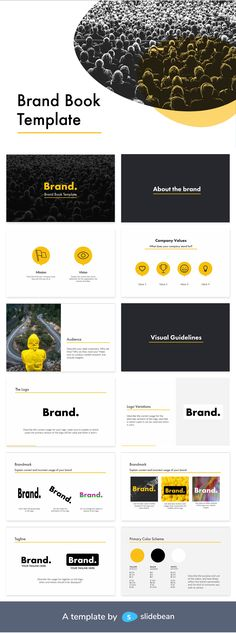 Whether you work in a company or for an agency, you're probably here because you belong to the advertising, marketing, corporate communications, or PR areas. As a professional in these, you know how important is brand consistency throughout digital, print, and other materials. This brand book template will help you define the guidelines every party must follow so the presence of the brand is never affected or altered.