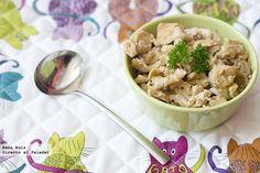 Pechugas de pollo al ajillo con pimentón. Receta Thermomix Actifry, Meatloaf, Risotto, Potato Salad, Food And Drink, Soup, Chicken, Breakfast, Ethnic Recipes