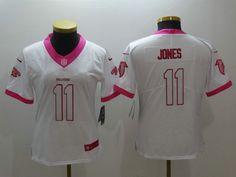 fb834d0b5 Women Atlanta Falcons 11 Julio Jones White Jersey. NFL jersey