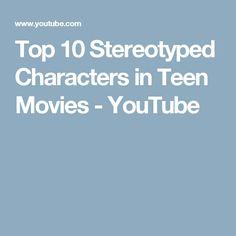 Top 10 Stereotyped Characters in Teen Movies Teen Movies, Charcuterie, High School, Youtube, Characters, Tops, Grammar School, Figurines, High Schools
