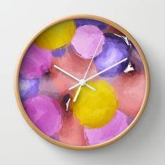 Bubbles Wall Clock by Escrevendo e Semeando - $30.00