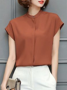 Casual Work Outfits, Business Casual Outfits, Blouses Uk, Blouses For Women, Blouse Outfit, Peplum Blouse, Sleeveless Shirt, Shirt Dress, Fancy Blouse Designs