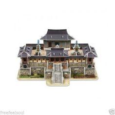Paper Toy Scale Model Kit for Kids Adult - Korea Temple Bulguksa(Middle Size)