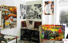 My year work area looking its tidiest Working Area, Painting, Art, Painting Art, Paintings, Kunst, Paint, Draw, Art Education