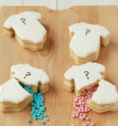 Gender Reveal Onesie Cookies #genderreveal