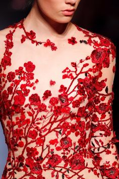 notice very well skin tone matched waist control underneath bust to waist - Zuhair Murad
