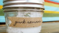 If you're looking for an easy way to remove stickers from plastics and furniture without resorting to harsh gunk removing chemicals, all you need is a little coconut oil and baking soda. Equal parts mashed together will give you a slightly abrasive paste, perfect for removing residue or glue from almost any surface.