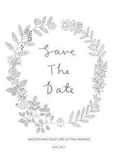Save the date designed by Ryn Frank www.rynfrank.co.uk