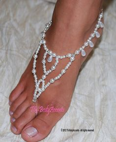 photography of foot jewlery | Barefoot Sandals Foot Jewelry Beach Wedding Teardrops Pearls | eBay