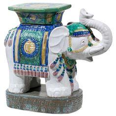 Vintage Elephant Garden Seat