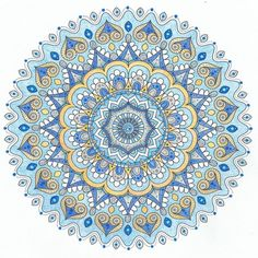 mondaymandalaThis is Winter Solstice - a free printable coloring page from mondaymandala.com, colored by Lois S. :)