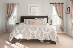Soothing+neutral+grey+and+blush+pink+bedroom+design