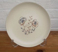 Poole Pottery 50 s Plate Mid-Century