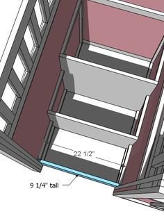 diy plans to build playhouse loft bed stairs that open to storage