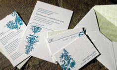 White, teal blue and sage green eco-friendly letterpress wedding invites Styles, Weddings, Wedding Ideas, Letterpress Wedding Invitations, Invites, Teal Green, Special Events, Wedding Inspiration, Wedding Ideas, Stationery, Cards Against Humanity, Pictures