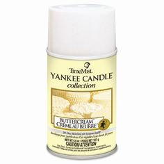 Time Mist Yankee Candle Collection Air Freshener Refill, Butter Cream, 6.6 Oz, Multi