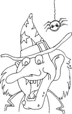 Scary Halloween Coloring Pages Halloween Coloring Pictures, Halloween Coloring Sheets, Witch Coloring Pages, Printable Adult Coloring Pages, Halloween Pictures, Coloring Books, Chat Halloween, Moldes Halloween, Halloween Rocks