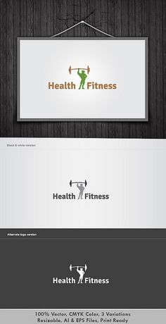 Health & Fitness Logo    It's Good Looking Simple logo Template. It's used Any kind's of Company to related this idea.    Featured:    AI CS3 Document  EPS CS Document  CMYK – 100 % Vector (Re-sizable)  3 Variations    You can Purchase it from here  graphicriver