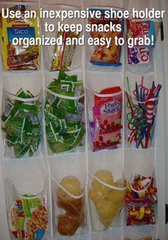 great idea for kids' snacks, spices etc