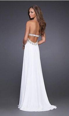 0f47076127 Elegant White Gown by La Femme 15027 Style  Name  Elegant Strapless Prom  Dress Closure  Zipper Details  Sparkling Accents