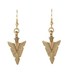 Gold Mini Arrow Head Earrings £2.99