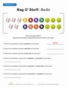 Fourth Grade Fractions Probability Worksheets: Introduction to Probability