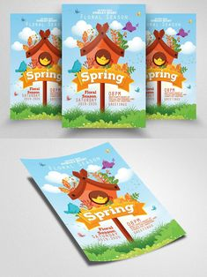 Festival Flyer, Spring Festival, Party Flyer, Business Flyer, Flyer Template, Seasons, Templates, Floral, Free