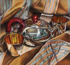 Jeanette Pasin Sloan, Teapot, 2013, Oil on Linen, 30 in x 32 in, #018646 LewAllen Galleries