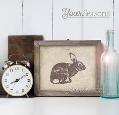 Print - rustikale Wand-Dekor - 8 x 10 druckbare digitale Datei - INSTANT DOWNLOAD-Kaninchen!