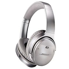 Bose® QuietComfort® 35 QC35 Wireless Bluetooth Noise-Cancelling Headphones - Silver #bose #headphones #noisecancelling #wireless #bluetooth