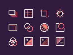 12 Photo Editing Icons