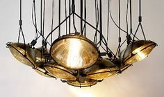 Using old car headlights, maybe in a garage/workshop or art room :)