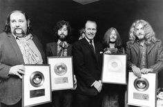 Zep with Peter Grant,ceremony at London's Savoy Hotel 1969* *