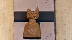 "Alabaster ""Eye Idols"" from the ancient site of Tell Brak, north Mesopotamia"