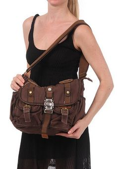 #Canvas Messenger Bag #Womens