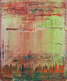 """The term """"sfumato"""" (blurred, subsided, gradated)—a technique developed by Leonardo da Vinci and often used in the context of early modern Italian painting—was applied by Benjamin H. Buchloh to describe the workmanship of Gerhard Richter's abstract paintings in the late 2000s, including this work."""