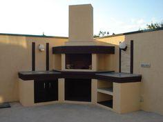 Outdoor Barbeque, Backyard Barbeque, Diy Outdoor Bar, Outdoor Kitchen Patio, Outdoor Kitchen Design, Terrace Garden Design, Backyard Patio Designs, Parrilla Exterior, Built In Braai