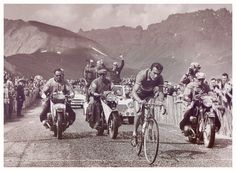 That year's winner, Charly, during a mountain stage of the race.