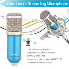 InnoGear® Studio Recording Condenser Microphone with Shock Mount Holder Clip for Radio Broadcasting Studio, Voice-Over Sound Studio, Home Recording, Gaming and Video Chat (Blue)  http://www.instrumentssale.com/innogear-studio-recording-condenser-microphone-with-shock-mount-holder-clip-for-radio-broadcasting-studio-voice-over-sound-studio-home-recording-gaming-and-video-chat-blue/