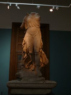 Greco-Roman marble statue, probably of Victory. Ashmolean Museum