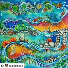 Maravilhoso demais! Tím @ rs.branddao #johannabasford #florestaencantada #johannabasfordenchantedforest #johannabasfordsecretgarden #editorasextante #secretgardencoloringbook #secretgarden #colorindolivrostop #coloringbook #beautycolor #coloring #desenhoscolorir