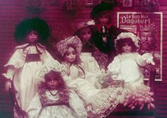 "Catalogue Sekiguchi collection ""Salon 1850"" NIcole, Eulalie, Marquise, Christine and Delphine Dolls"